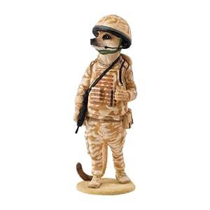 Magnificent Meerkats Tommy - Figura de suricata, diseño con uniforme de soldado