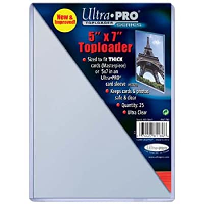 "Ultra Pro Top Loader - 5""x7"" (25 per pack): Sports & Outdoors"