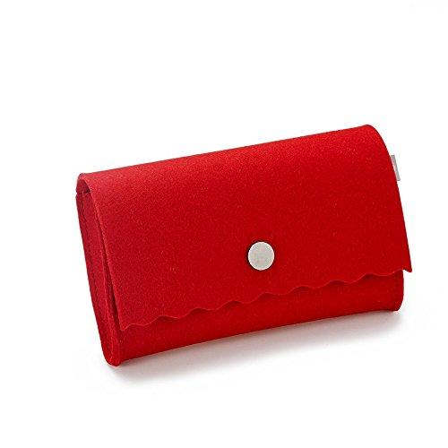 Cartera De Para Esta Mujer Rojo Mano design 5FxFqE
