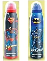 BATMAN AND SUPERMAN 5.0 oz PERFUME BODY SPRAY 2 BODY SPRAY