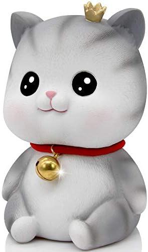 H&W Little Bell Kitten Money Coin Bank Small Size Cat Piggy Bank A Lovely Gift for Your Child Stare Piggy (WK19-D2)