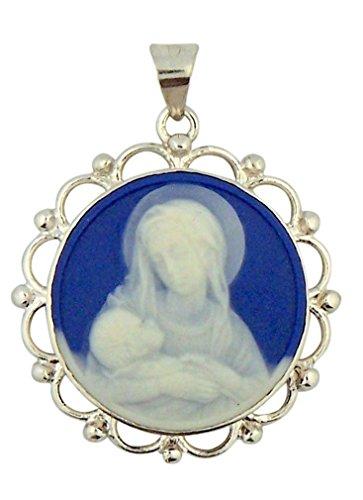 Porcelain Cameo Pendant Necklace - 8