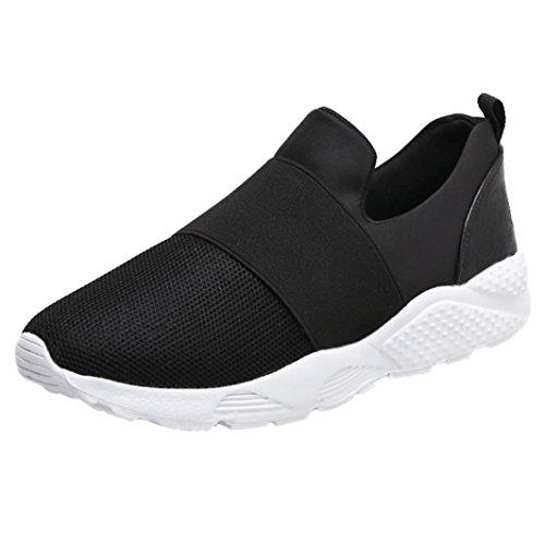 SmrBeauty Donna Uomo Scarpe da Ginnastica Sneakers Respirabile Mesh Scarpe da Corsa all'aperto Sneakers Nero