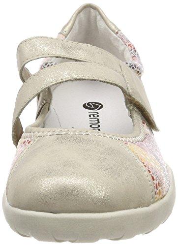 Remonte Dames R3510 Gesloten Ballerinas Gold (shell / Antieke-bloem)