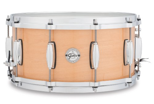 Gretsch Drums Silver Series S1-6514-MPL 14-Inch Snare Drum, Gloss