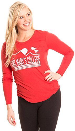 Alma Mater NCAA Saint Mary's Gaels Women's Long Sleeve T-Shirt, Large, Red