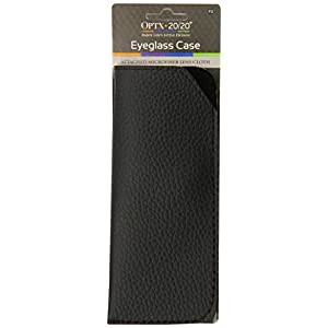 Optx 20/20 Eyeglass Case with Snap In Microfiber Cleaning Cloth