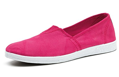 in Tela Vegan Eco Scarpe Donna per con Trendy World Elastico Natural 8U0Ow