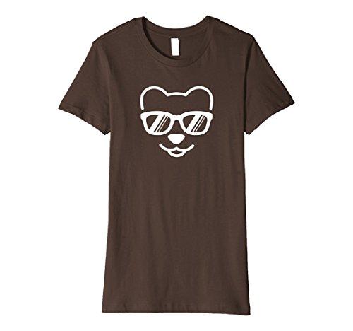 Womens Cute Bear Cub Wearing Sunglasses T-shirt Large - Sunglasses Bear Wearing