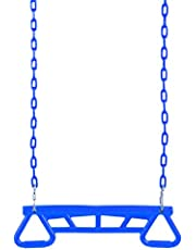 CALIDAKA Trapeze Swing Bar Rings,Heavy Duty Trapeze Bar,Gym Rings Swing Bar,Playground Trapeze Bar,Chain Swing Set Accessories with Connecting Buckle,Trapeze Swing Bar Fitness