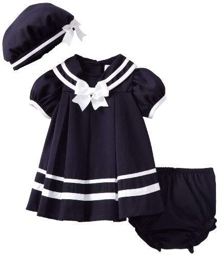 Rare Editions Baby Girls Newborn Nautical Dress (24 months)