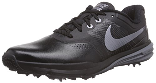 Nike Lunar Command Mens Golf Shoes, Black/Cool Grey/Metallic Cool Grey, 11.5 D US