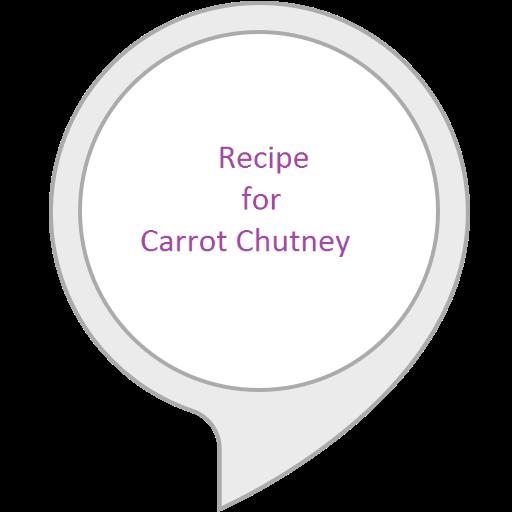 (Recipe for Carrot Chutney)