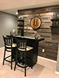 interior wood paneling Peel & Stick Rustic Reclaimed Barn Wood Paneling, Real Wood, Rustic Wall Planks - Easy Installation (1 Square Foot)