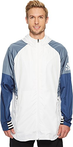 adidas Men's Sport ID Woven Shell Jacket White Small
