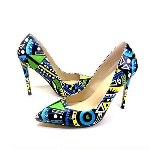 Tacones De Stiletto Invierno Comodidad Mujer QOIQNLSN PU Negro Zapatos Blue Azul Talón De Poliuretano qn8fUw