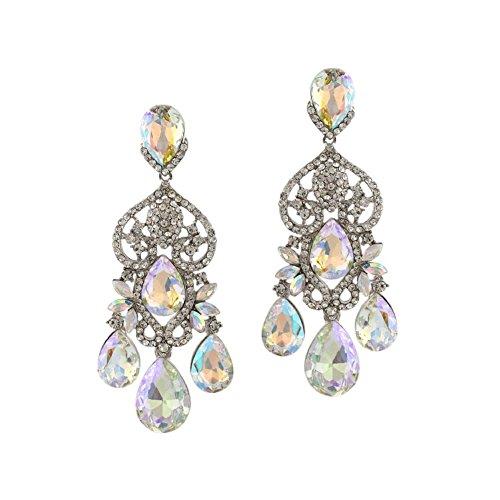 Topwholesalejewel Earrings Rhodium Boreails Chandelier product image