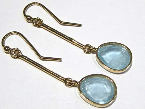 aquamarine earrings Gold 18 k