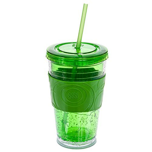 Cool Gear Gel Insulated Tumbler w/ Colored Band (Green) by CoolGear (Cool Gear Tumbler)