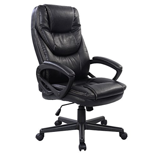 Giantex PU Leather High Back Executive Office Chair, Black