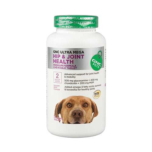 Ultra Mega Hip and Joint Health for Adult Dogs, Beef, 60 chewable tabs