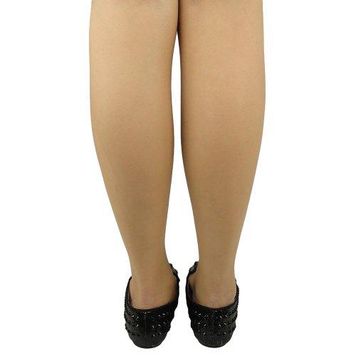 Damesslip Op Glitter Loafers Met Studs Spikes Comfort Plat Zwart Maat 5.5-10 Zwart