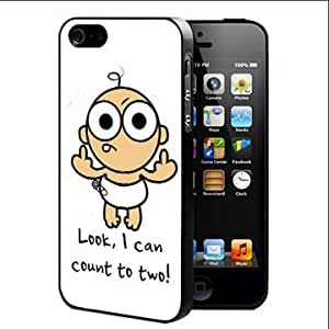 Funny Cartoon Baby Flicking The Middle Finger Rubber Silicone TPU Cell Phone Case (iPhone 4 4s)