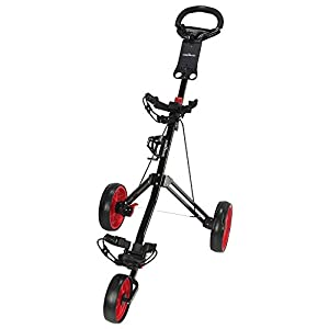 Caddymatic Golf Pro Lite 3 Wheel Golf Cart Black/Red
