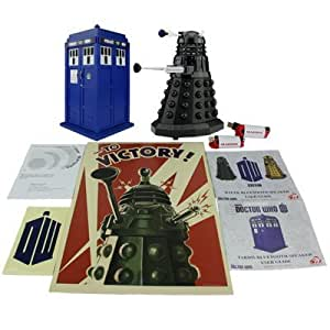 Doctor Who TARDIS and Dalek Sec Bluetooth Speaker Combo Pack with MIC, LED's and Sound Effects