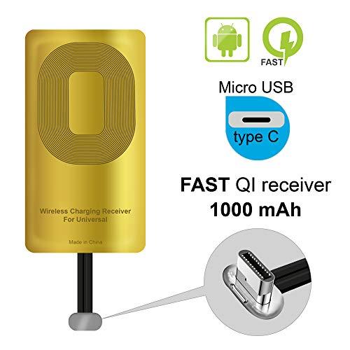 QI Receiver Type C for Google Pixel 2XL-XL-LG V20- LG G5- Motorola G6- G6 Plus- HTC 10- Samsung Galaxy A5(2017)-A7(2017)- Qi Wireless Receiver-QI Receiver-Type C Wireless Charging Receiver