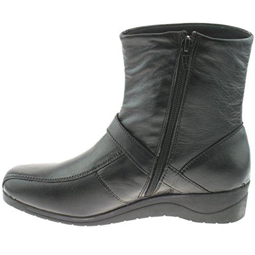 De Cremallera Interior Boot Negro Con Neopreno El Para Mujer Ankle En Traje OCd4qw4