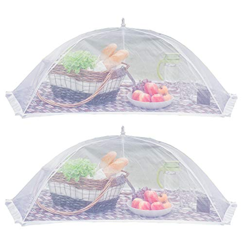 (2 Pack) Luxury Large Food Cover Tent | 100% Organza Net Highly Durable and Nontoxic | 2 Set of Extra Large Picnic Food Cover Mesh | Perfect Giant Outdoor Food Cover to Keep Insect and Fly Away