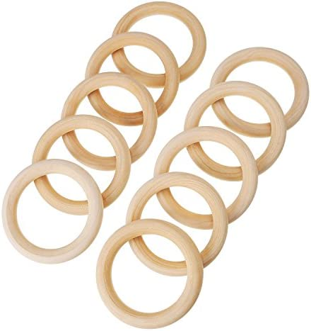1X 20 Pack Wood Rings Wooden Rings For Craft, Ring Pendant And Connectors J Y6C6