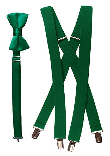 Bow Tie and Suspender Set Combo in Men's & Kids Sizes (25