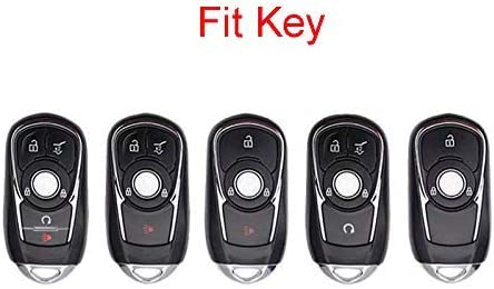 2 3 4 5 Buttons 3D Bling Smart keyless Entry Remote Key Fob case Cover for Buick Verano Regal Lacross Encore Envision Enclave GL8 2015 2016 2017 2018 Accessories Silver