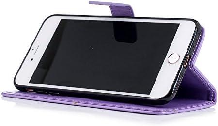 Lomogo iPhone 7 Plus/iPhone 8 Plus ケース 手帳型 耐衝撃 レザーケース 財布型 カードポケット スタンド機能 マグネット式 アイフォン7Plus / 8Plus 手帳型ケース カバー 人気 - LOXCH020027 緑