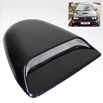 Universal Black ABS Plastic Decorative or Functional Hood Scoop Air Flow Vent