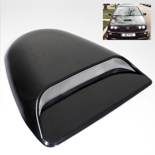 Universal Black ABS Plastic Decorative or Functional Hood Scoop Air Flow Vent (Hood Scoop Functional)