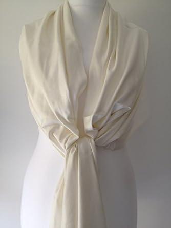 7076f950f54 Pashmina scarf Ivory Cream Ladies scarf Fair Trade Wrap Shawl ...