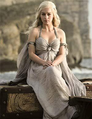 Emilia Clarke With Beautiful Blonde Hair Daenerys Targaryen