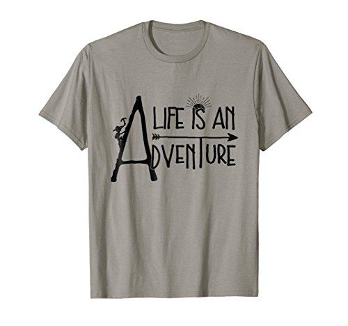 Life Adventure Outdoors T-Shirt Mountain Climbing ()
