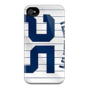 Iphone 4/4s New York Yankees Print High Quality Tpu Gel Frame Case Cover