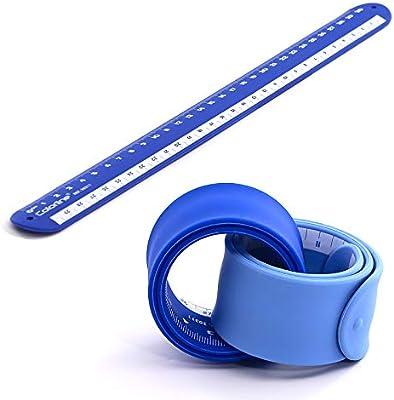 PracticOffice - Pack 2 Reglas Rulómetro de 30 cm en Silicona Ultra Soft. Flexible y Resistente. Color Azul Claro + Azul Oscuro: Amazon.es: Juguetes y juegos