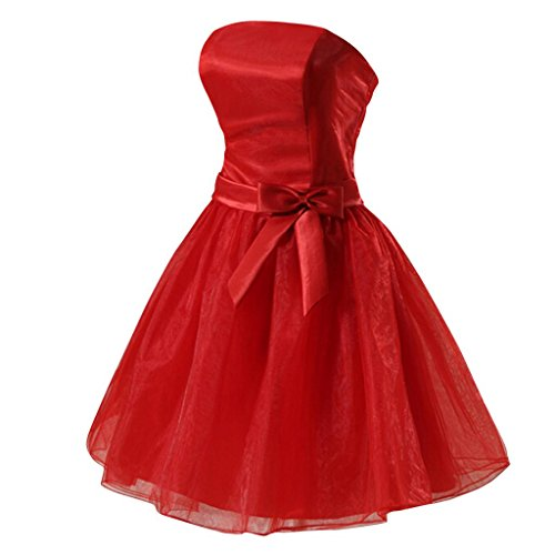 Hee Grand Women Formal Gown Prom Evening Bridesmaid Short Dress Chinese S Red