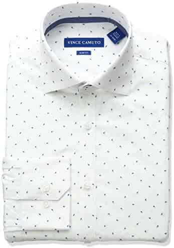 Vince Camuto Men's Slim Fit Stretch Paisley Print Dress Shirt with Collar