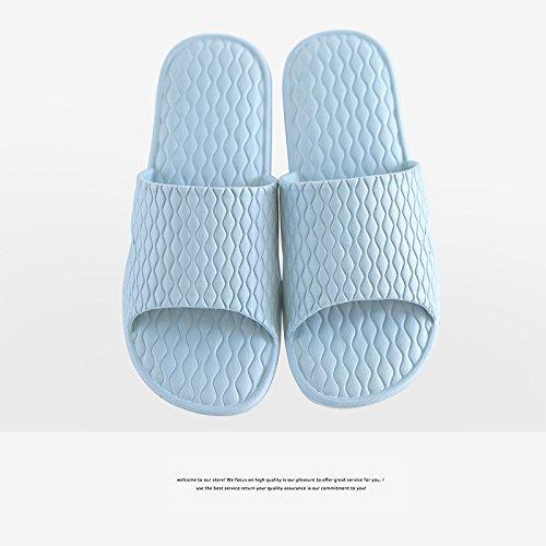 fresca uomini grigio soggiorno 41 bagno antiscivolo femmina home estate e bagno da ciabatte 40 fankou e semplice indoor pantofole coppie four blu seasons TqBOzwC