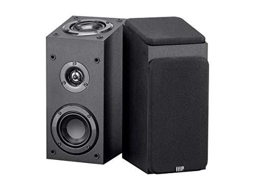 Monoprice 133833 Premium Immersive Satellite Speakers - Black (Pair) with 3Inch Woofer