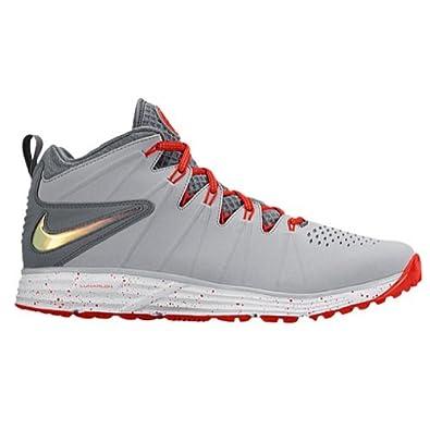 Amazoncom Nike Mens Huarache 4 LAX Turf LE Lacrosse Turf Shoes 95 Wolf GreyChilling Red 0887232486945 Books