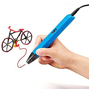 Soyan Professional 3D Pen for Kids, With ABS Filament Sample and Drawing Templates (Blue)