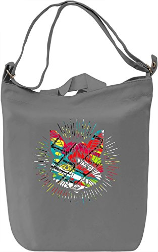 Fox Symbol Borsa Giornaliera Canvas Canvas Day Bag| 100% Premium Cotton Canvas| DTG Printing|